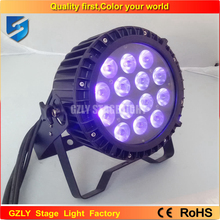 Free shipping 14x18W RGBW+UV Led Par Light Waterproof IP65 Stage 6IN1 Outdoor Led Par 64 DMX512