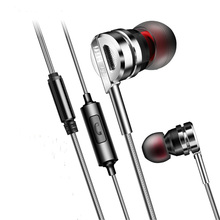 Brand Earphone PTM HiFi Headset Metal Earbuds With Mic for Earpods Airpods(China)