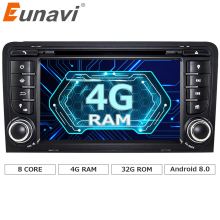 "Eunavi 7"" Octa 8 Core 4G RAM Android 8.0 Car DVD Radio Player for Audi A3/S3(2003-2013) stereo with TPMS/OBD2/4G/DAB+/GPS/WIFI(China)"