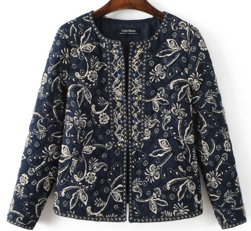 Free Shipping 2017 New Arrivals Women Clothing o-neck Ethnic Embroider Plus Sze S~L Small Jacket Cotton CoatОдежда и ак�е��уары<br><br><br>Aliexpress