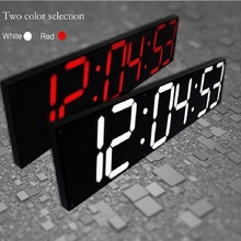 2017 New Remote Oversize Led Wall Clock 3D Big Screen 68cm Digital Clock Timer 6 Digit Stopwatch Fashion Wall Clock Home Decor