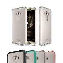 TPU Bumper+Acrylic Hard Back Transparent Clear Cover Case For Asus Zenfone 3 ZE552KL 5.5 Inch Air Hybrid Protection Case
