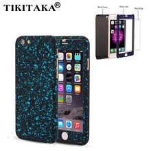 3D Stars 360 Case For iPhone 5 5s SE 6 6S 7 Plus Ultra Slim Hard Frosted Full Body Cover Coverage Of 360 Degree Clear Glass Film