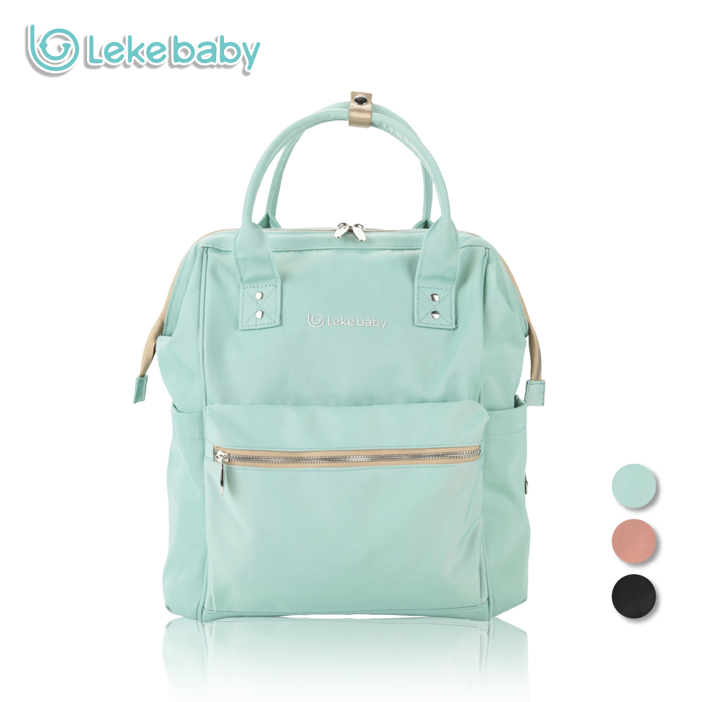 Lekebaby Oversized Opening Diaper Bag Backpack Built-in Steel Ring Support Nappy Tote Bag Large Capacity Baby Care Bag<br>