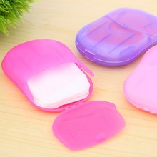 Convenient Washing Hand Wipes Bath Travel Scented Slice Sheets Foaming Box Paper Soap wholesale Drop Shipping(China)