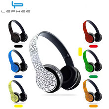 LEPHEE Crack Wireless Headphones P23 Portable Bluetooth Headphone with Microphone 3.5mm Cable FM Radio Headset For Mobile Phone
