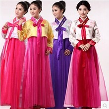 autumn Women Short Hanbok Female Korean Dress Ethnic Costumes Embroidered Korean Traditional Dance Dress Cosplay(China)