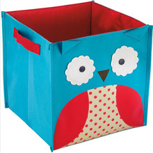 Cute Non-Woven Fabric Toys Organizer Storage Box Children's Toy Books Sundries Shoes Clothing Storage Box Whloesale Price