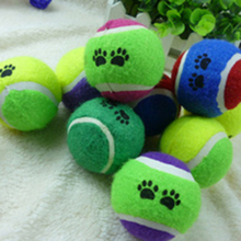 High Quality! Cute Pets Suppliers Dog Cat Tennis Balls Run Play Chew Toys Dog Pet Toys(China)