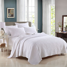 White blue Cotton Quilting trapunta estiva matrimoniale dekbed bedding Set Bed line duvet cover quilted covers bed sheet quilts