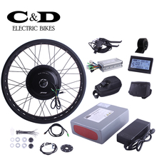 Fat Bike Conversion kit 48V500W Direct Drive Motor Kit MXUS For Electric bike 48V10.4AH Li-ion Battery LED LCD Display Optional