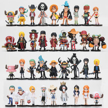 One Piece Action Figures Cute One Piece Film Gold PVC Figure Toys Dolls Luffy Chopper Nami Sanji Zoro Full set Toys(China)