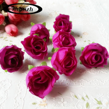 30Pcs / Lot Thumb Silk Flower Heads Wedding Artificial Flowers Birthday Party Decorative Faux Gifts Flower DIY Accessories(China)