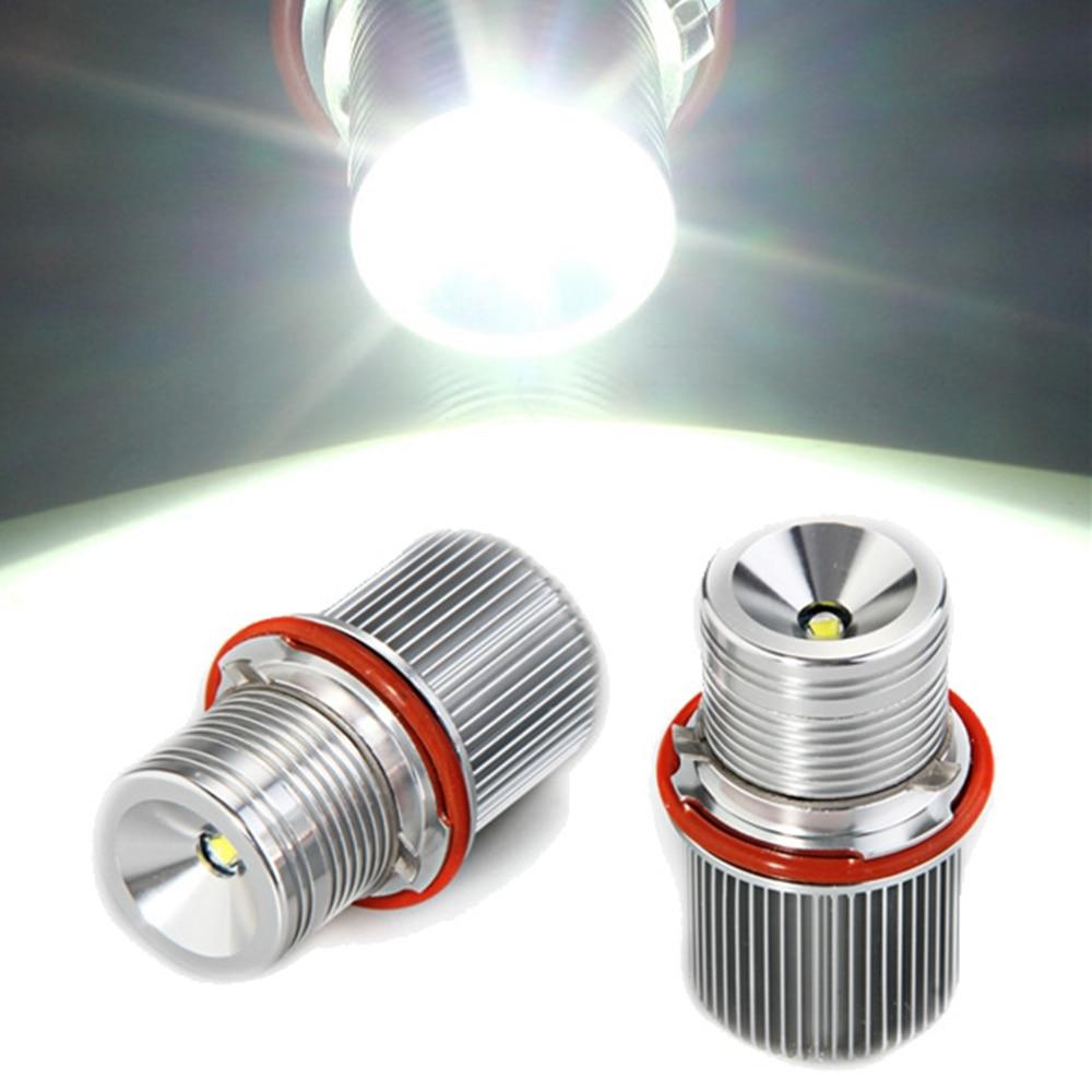 Qook 2pcs 7.5W T6 LED Marker Angel Eye Light Lamp White 12V DC for BMW E39 E53 E60<br><br>Aliexpress