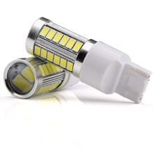 1pcs Car led T20 W21W 7440 WY21W 33 LED 5630 5730 SMD car Backup Reserve Lights auto brake light fog lamps 12V red yellow