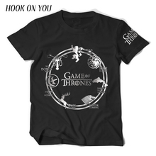 2017 Summer Fashion Tops Hot Game of Thrones Men T Shirts Deer Wolf Dragon Lion Print Animal Tees Casual 100%Cotton Cool T-Shirt