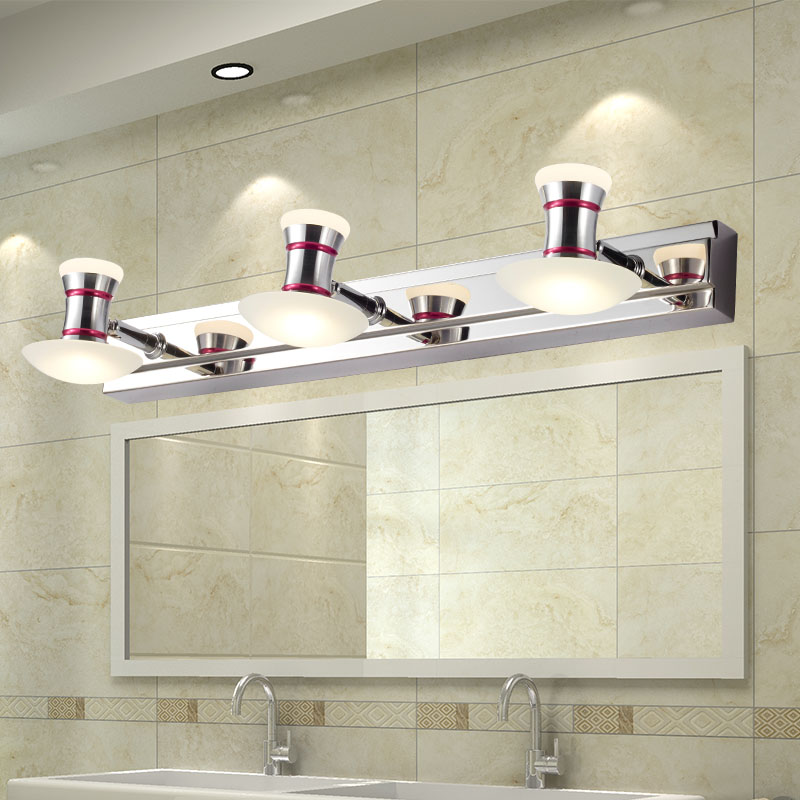 Modern 6W/9W Led Bathroom Wall Lamp Mushroom Acrylic Lampshade Mirror Light Metal Sconce Decoration Fixture 110-240V<br>