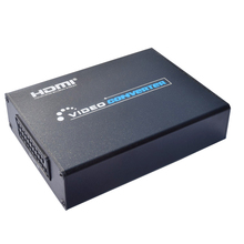 HD SCART to HDMI Converter Adapter HDMI Splitter HDTV Audio Video Switch Projector with Power Supplied Adapter 3D Motion