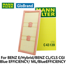 MANNFILTER  car air Filter C43139 for BENZ E/Hybrid/BENZ CL/CLS /CGI Blue EFFICIENCY/ ML/BlueEFFICIENCY auto  parts