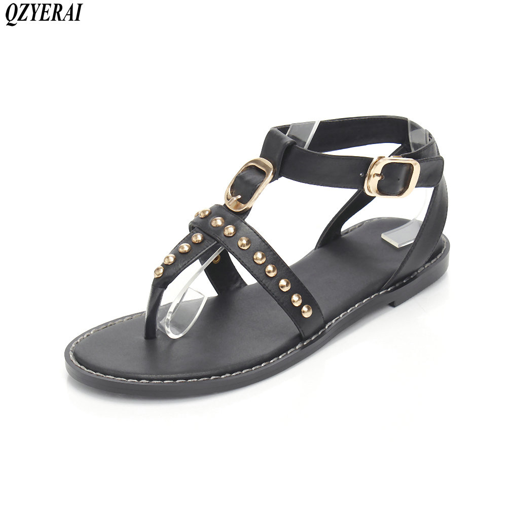 QZYERAI New fashion in 2018 French womens flat sandals open-toe womens shoes casual sandals<br>