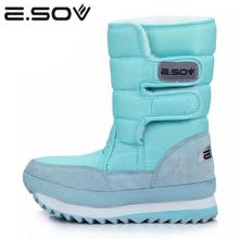 Buy Esov 2017 Plus Size35-45 Woman Snow Boots Slip Women Winter Platform Sneakers Boots Fur Inside Mid Calf Boots Women's Shoes for $35.84 in AliExpress store