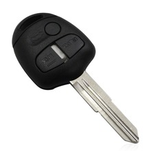 For Mitsubishi Lancer Outlander 3 Button Remote Car Key Shell Fob Case Cover Blank Uncut Right Blade With L0g0