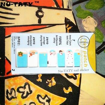 Nu-ТАТИ Рождество Зима Снеговик Стикер Ногтя 14 шт./компл. Водонепроницаемый Наклейки Ногтей Искусство Наклейки Гель Для Ногтей Маникюр Фольга Красоты макияж