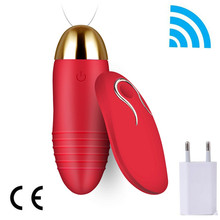 With charger USB AV magic wand massager vibrator egg sex toy for women Wireless vibrators G-spot massage sex products for couple(China)