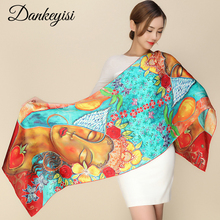 [DANKEYISI] Brand 100% Pure Silk Scarves Women High Quality Satin Mulberry Silk Scarves Shawls Ladies Spring Beach Cover-ups(China)