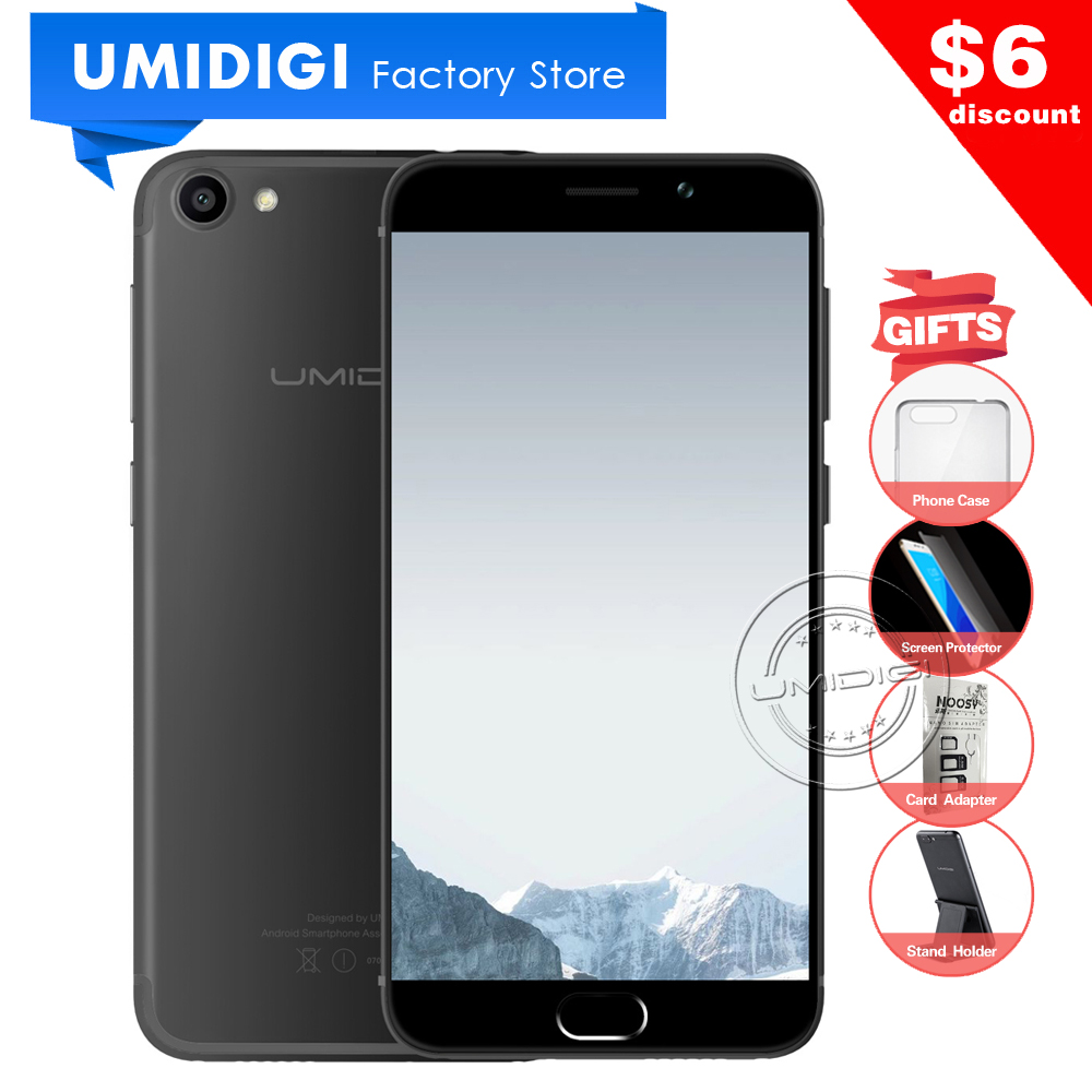 New Umidigi G 5.0 inch Android Phone MTK6737 Quad-core 2GB RAM 16GB ROM Google Phone 4G LTE Compact Global Mobile Phone(China (Mainland))