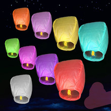 500pcs/set Hot Romantic Sky Lanterns Paper Flying Balloons Kongming Lanterns Birthday Wedding Party Decoration Valentine Day