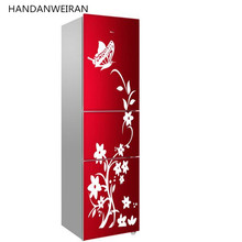 1piece with transter film special butterfly flower vine fridge sticker wall sticker glass sticker home decor(China)