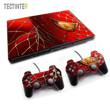 Spiderman Vinyl Skin Sticker Cover For Sony PS2 Console with 2 Controllers Decal For Playstation 2 Gamepad Joystick Accessories(China)