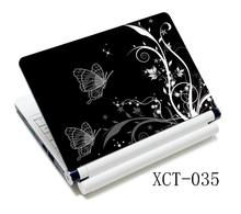 White Black Butterfly Flowers 15.6 Universal Laptop Skin Cover Sticker Decal For HP Acer Dell ASUS Apple Sony(China)