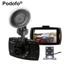 Podofo Dual Lens G30 Car Camera 2.7 Inch Dashcam Registrator Video Recorder with Backup Rearview Camera Night Vision Camcorder(China)