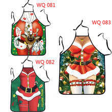 2017 Creative Christmas decorations apron funny Cute couple uniforms temptation dress Christmas decoration for home pinafore(China)