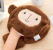 tablet pad mat gift mat Winter Warm Mouse Pad Thick Cartoon Plush Monkey Hand Warmer Heated Mouse Mat USB Port with Wristguard