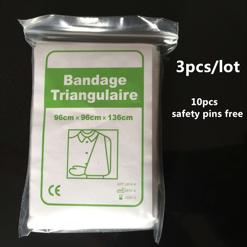 3pcs/lot wholesale sterile medical dressing bandage triangular first aid wrap first aid training non-woven triangular bandage <br><br>Aliexpress