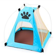 Summer Pet Dog House Pet Tent Breathable Portable Outdoor Indoor Hiking Camping Kitten Sleeping Bed House Kennel Tent Cage