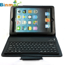 Binmer Mecall Wireless Bluetooth Keyboard Stand Leather Case Cover For Apple for ipad mini Free Shipping