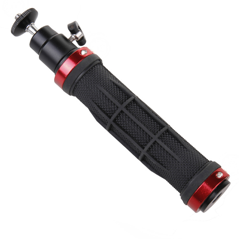 Mayitr 1pc Red Handle Grip Stabilizer Handheld Handle Stand Holder Tripod Stabilizer With 1/4 Screw for Digital Camera