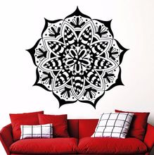 Bohemian Mandala Wall Decals Artistic Yoga Studio Vinyl Removable Wall Stickers Home Self Living Room Indian Pattern DecorSYY292
