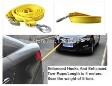 Trailer Rope Enhanced Hooks And Enhanced Tow Rope/Length is 4 meters Bear the weight of 5 tons thickening self-relief rope