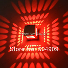 Red Cube Box 3W High Power LED Wall light Porch Studio Hotel Lobby Stairs Modern Decorative Decking Fixture Lamp Background Bulb(China)