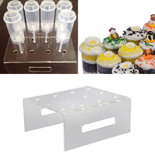 Behokic 12-Hole Acrylic Cupcake Cake Muffin Dessert Push Pop Display Stand Holder for Wedding Birthday Party Christmas Decor(China)