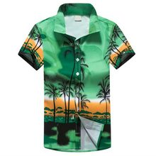 7683601c980 Laamei Men Hawaii Shirt New Summer Beach Leisure Fashion Floral Print  Tropical Seaside Hawaiian Shirts 2019