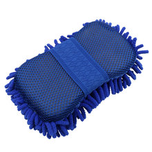 New Real Microfiber Car Washer Cleaning Care Detailing Brushes Washing Towel Auto Gloves Styling Supplies Accessories Wholesale(China)