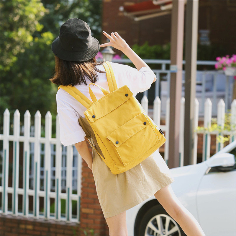 Menghuo Brand Female Women Canvas Backpack Preppy Style School Lady Girl Student School Laptop Bag Cotton Fabric bolsasGWQT6397