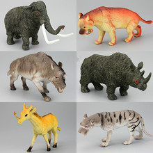 Simulation Model Prehistoric Animals Extinct Mammoth Saber-toothed Tigers Dire Wolf Giant Pig Unicorn Coelodonta Children's Toys