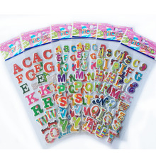 5pcs/lot 3D Cartoon 26 english letters kids rooms bubble Stickers school study Scrapbook Puffy PVC Stickers WYQ(China)